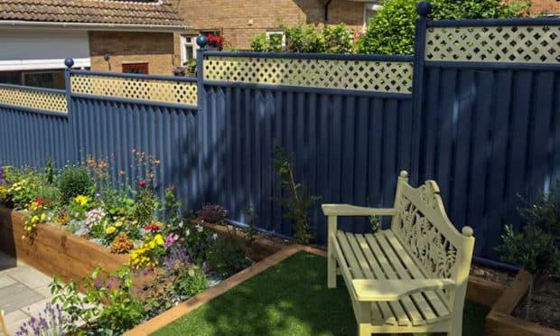Colorful Garden Fencing