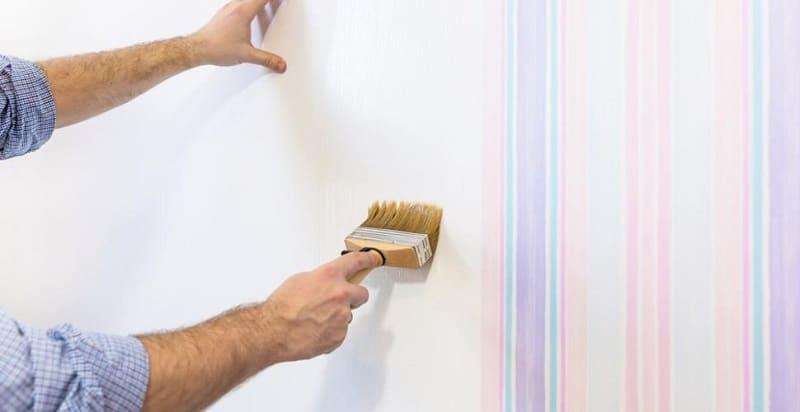 Papier peint ou la peinture