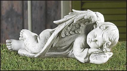 Sleeping Angel Garden Statue