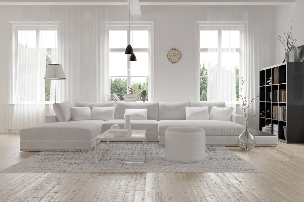 Light Monochromatic Color in Living Room