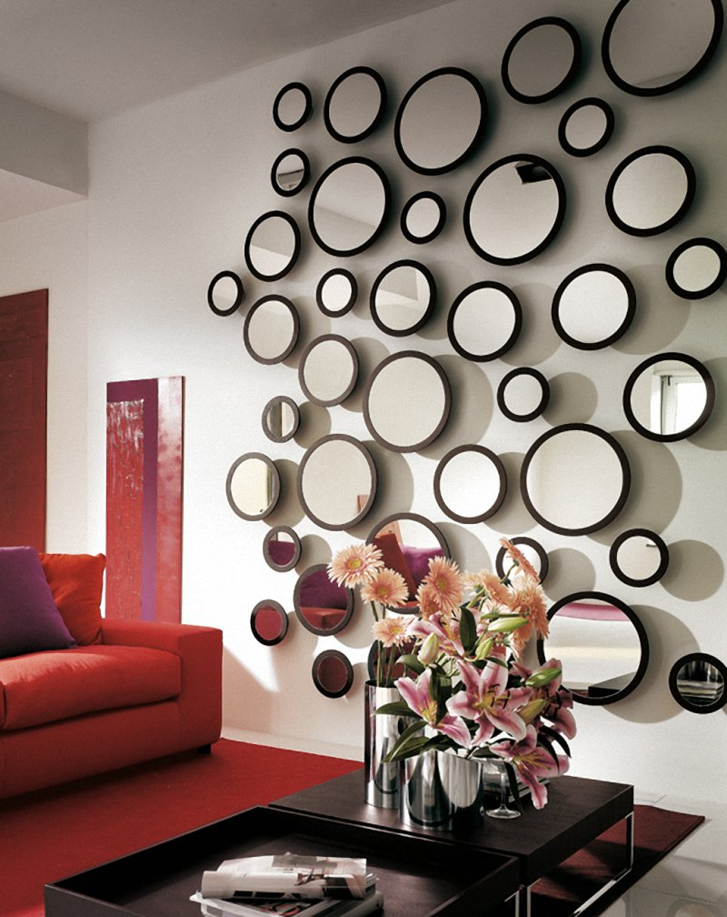 Unique Bubble Wall Mirrors For Living Room